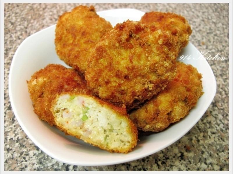 【深夜食堂】炸豆腐鮮蝦漢堡排