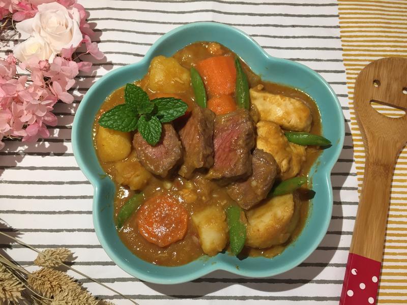 甜豆牛肉咖哩飯
