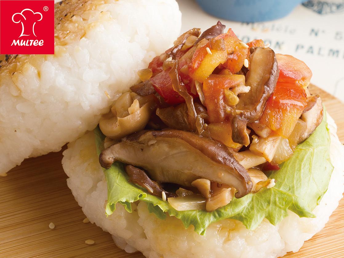 【摩堤 鑄鐵鍋料理】時菇米漢堡