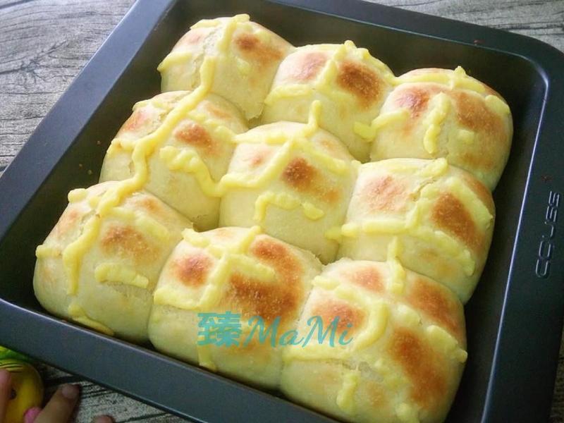 卡士達小餐包-低溫發酵法