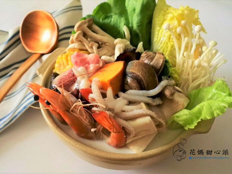 海蔬雙鮮牛奶鍋