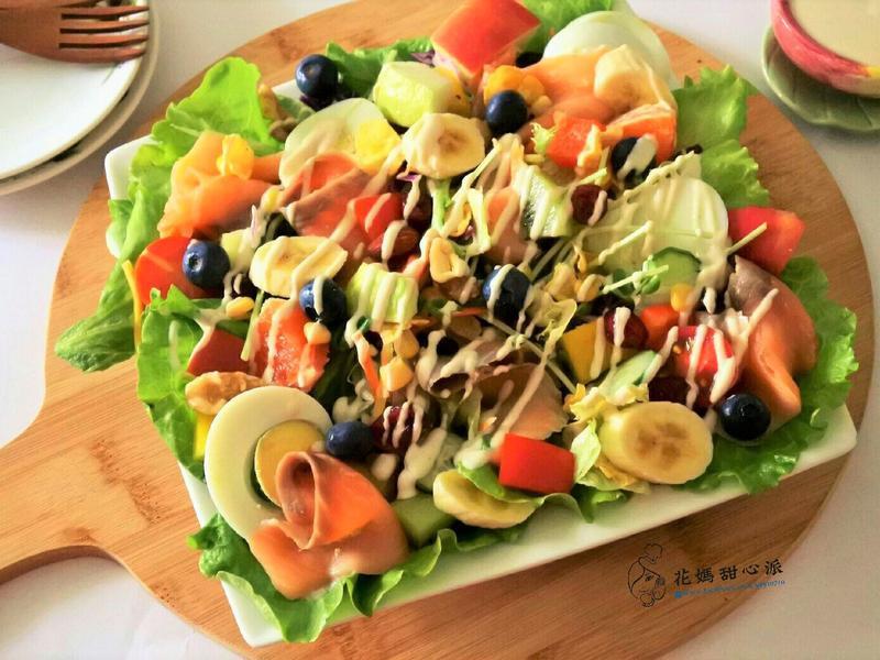燻鮭魚蔬果沙拉