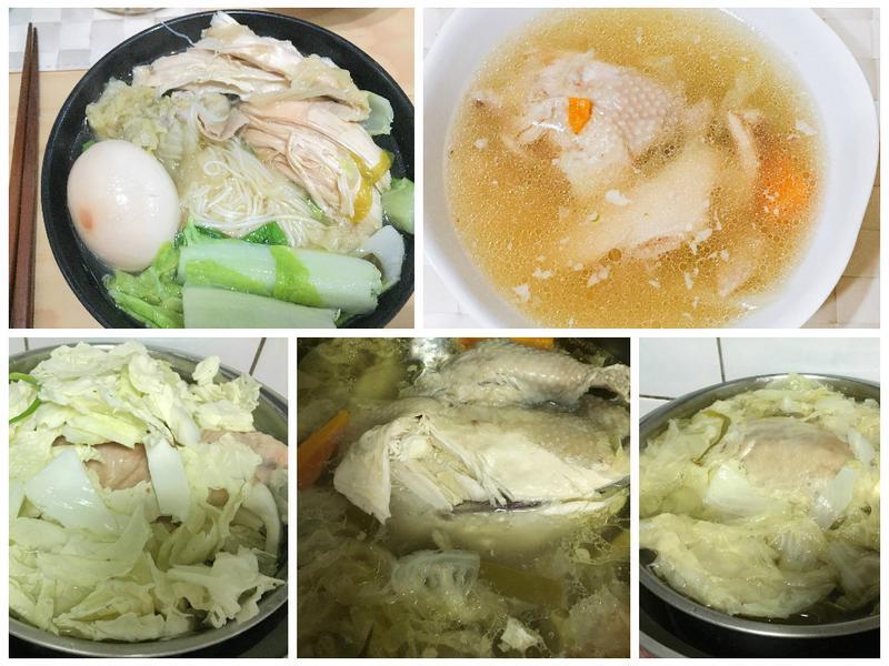 白菜雞湯-電鍋簡易版/雞湯麵線