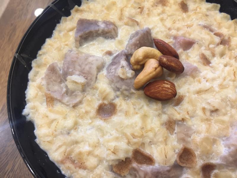 【瘦身高纖】芋頭燕麥粥 超飽足早餐食譜