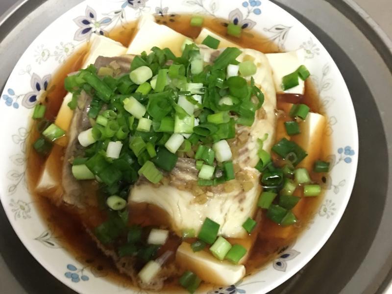 清蒸豆腐魚🐟~雪地裡的魚