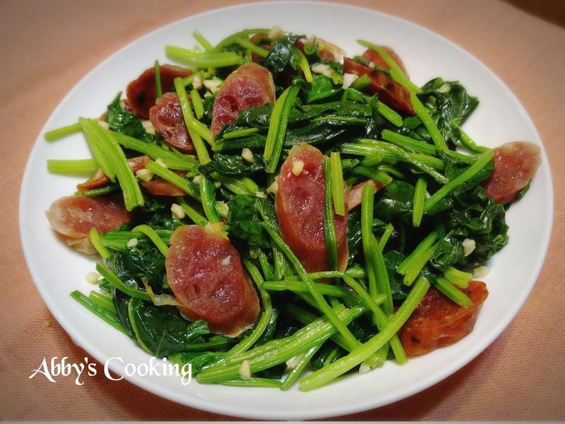 臘腸炒菠菜