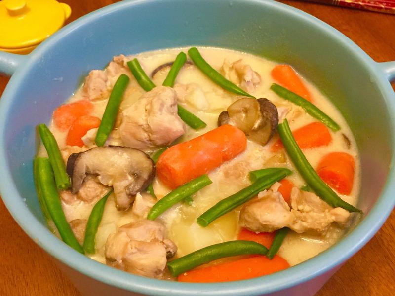 白醬鮮蔬燉雞(自製白醬)