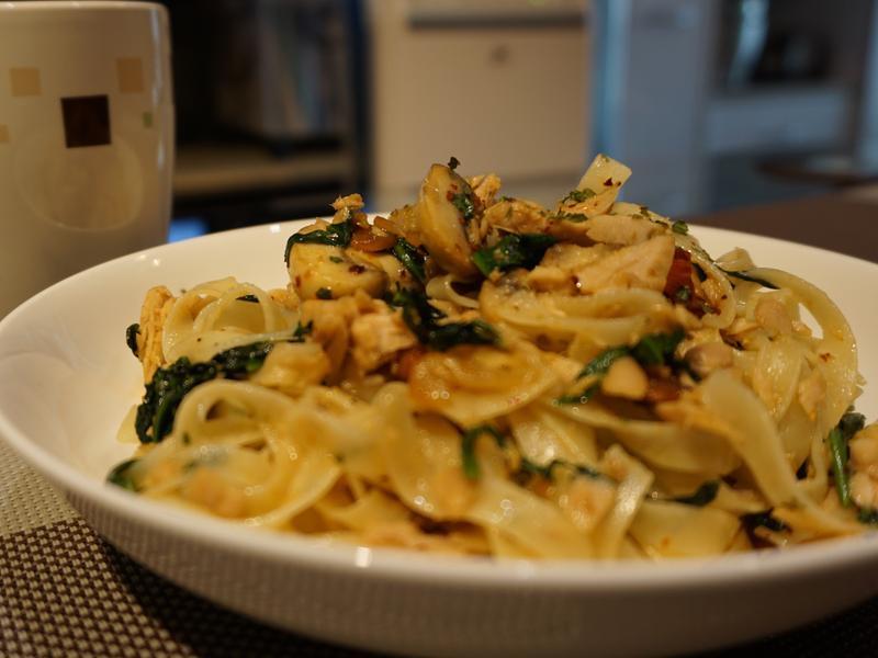 蒜炒鮪魚義大利麵