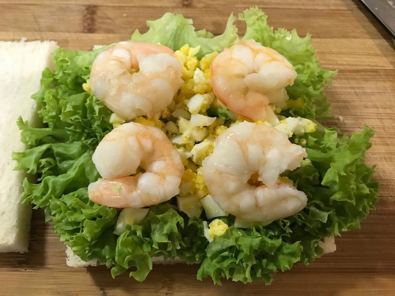 鮮蝦沙拉三明治