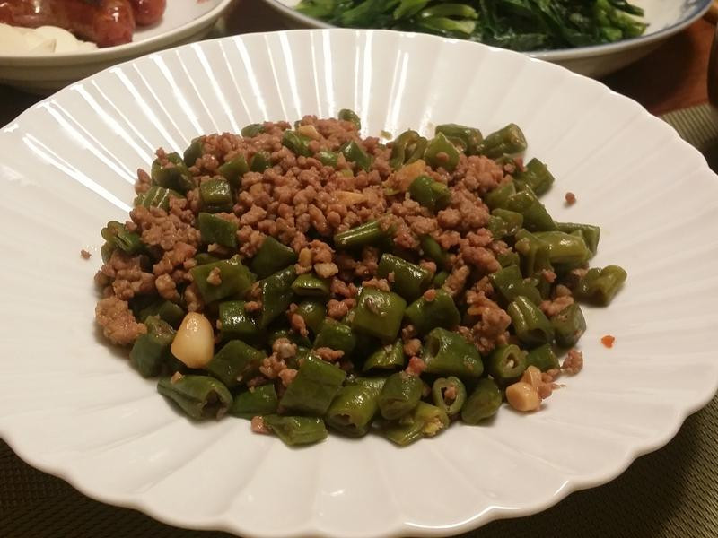 粉豆炒絞肉