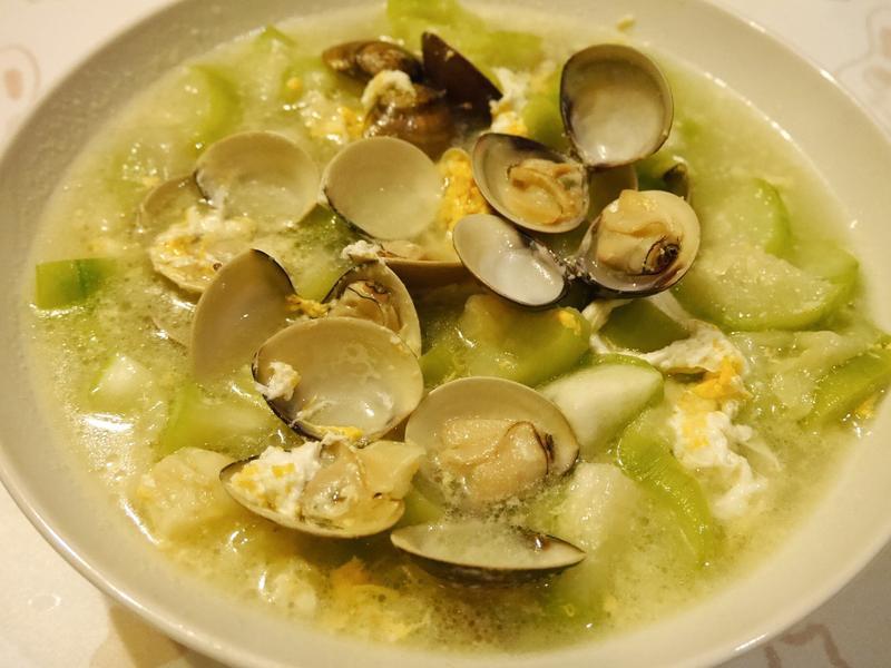 蛤蠣燴絲瓜