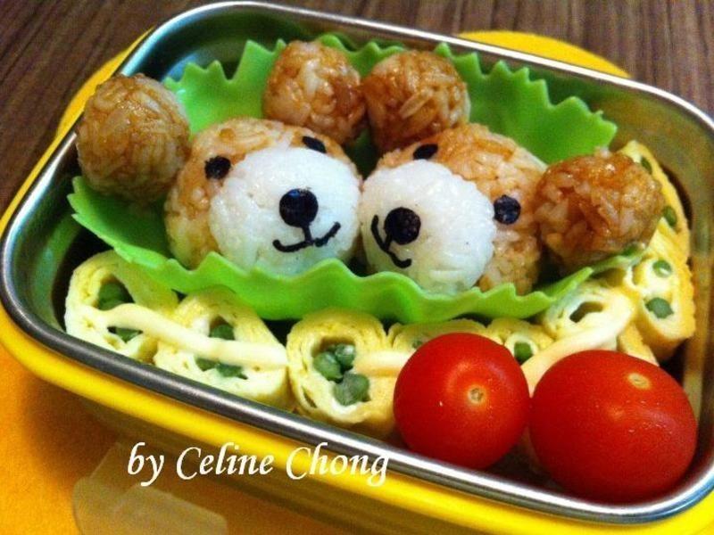 【親子食堂】两个小熊爱心便当