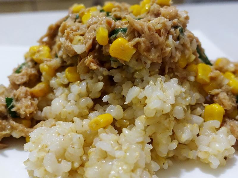 玉米鮪魚蛋飯