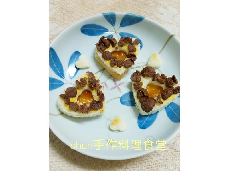 心型柑橘烤土司(媽媽手作幸福料理)