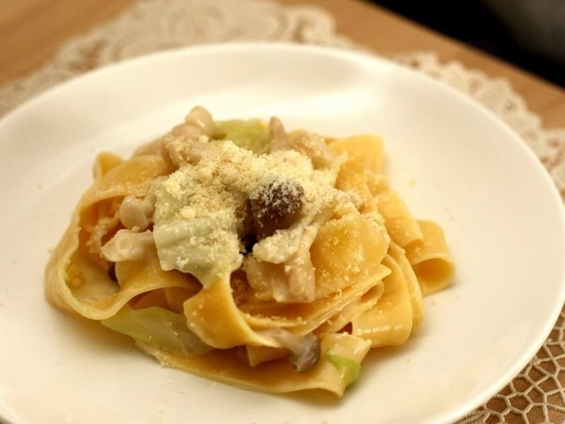 【深夜食堂】奶油野菇寬麵