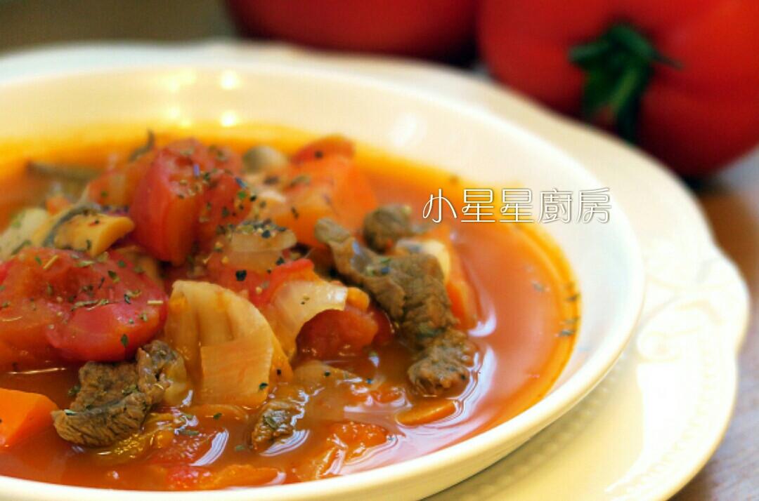 義式蕃茄牛肉蔬菜湯(一鍋到底真方便!)