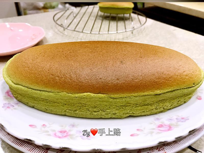 用起司片做抹茶輕乳酪蛋糕