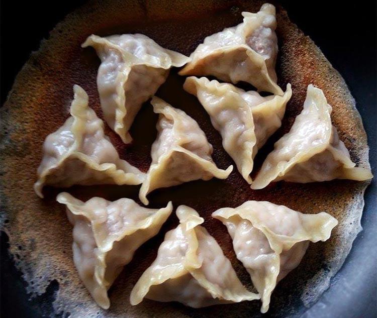 三角豚鼠餃♥(豬肉豆薯餡)