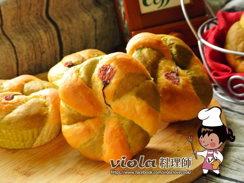 櫻花抹茶麵包