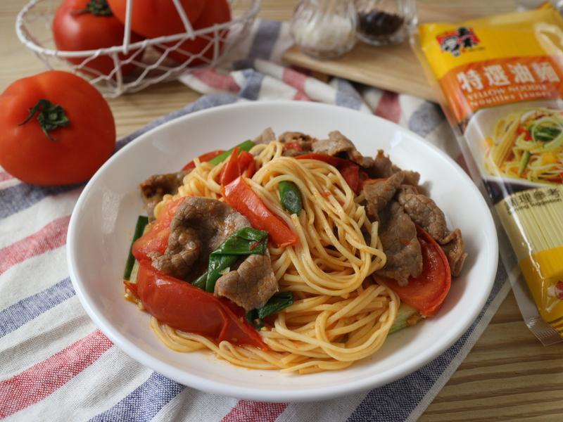 蕃茄牛肉炒麵