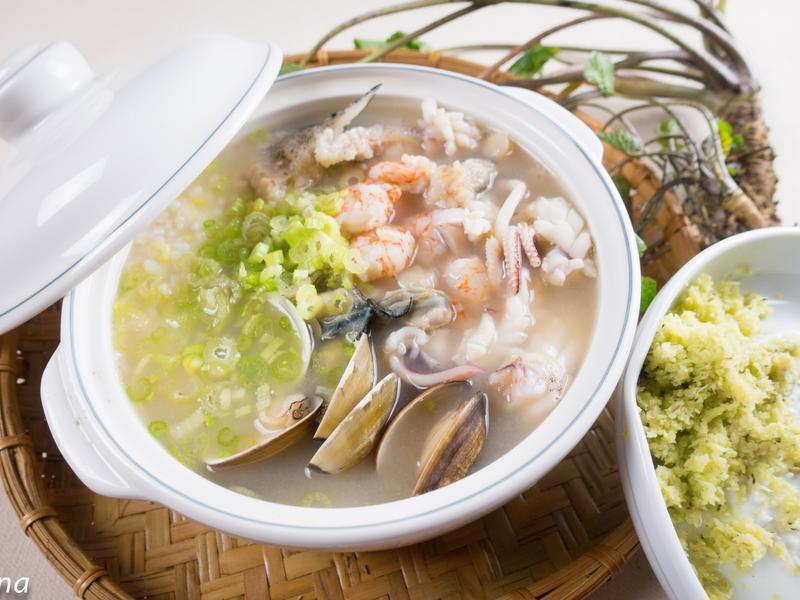 龍膽石斑味增海鮮粥@Selina Wu