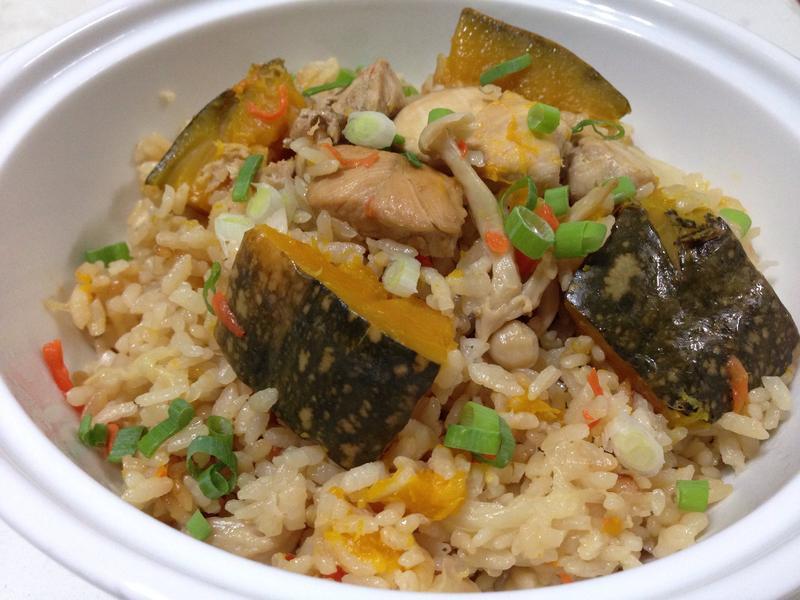 野菜雞肉炊飯