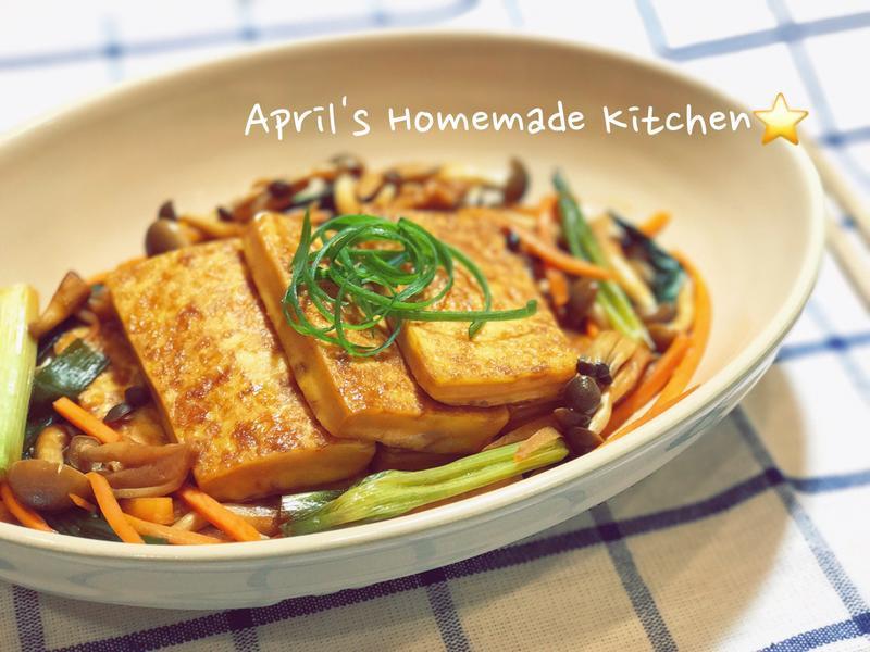 一鍋到底 鮮菇蔥燒豆腐