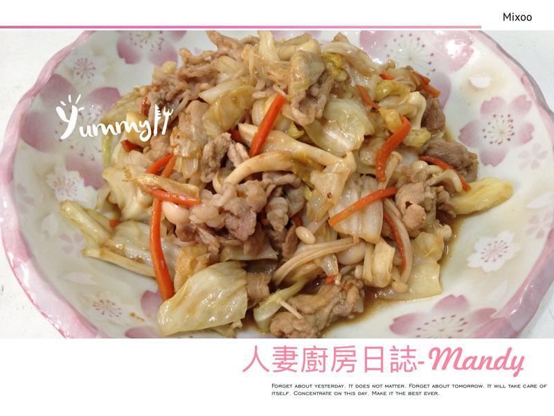 沙茶豬炒高麗菜