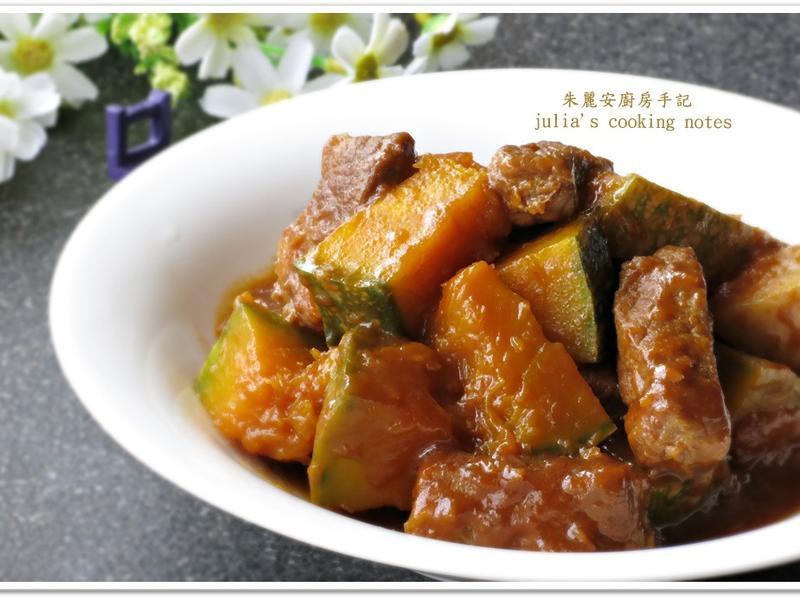 [南瓜燒肉]簡易家常菜