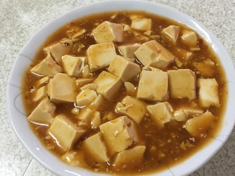 (不加一滴油)麻婆豆腐~全素