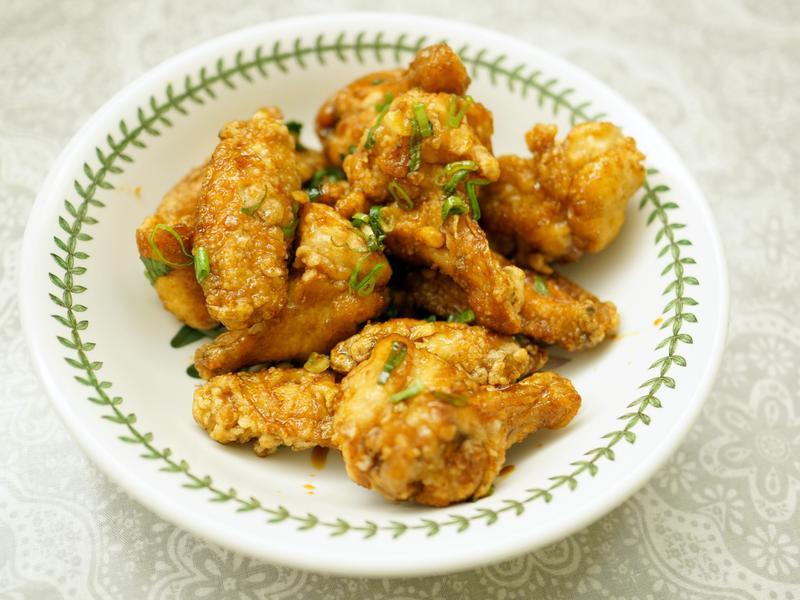 一口接一口超好吃韓式蒜味炸雞