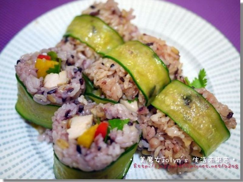 ♫下廚--春天彩椒雞肉壽司(南僑膳纖熟飯)