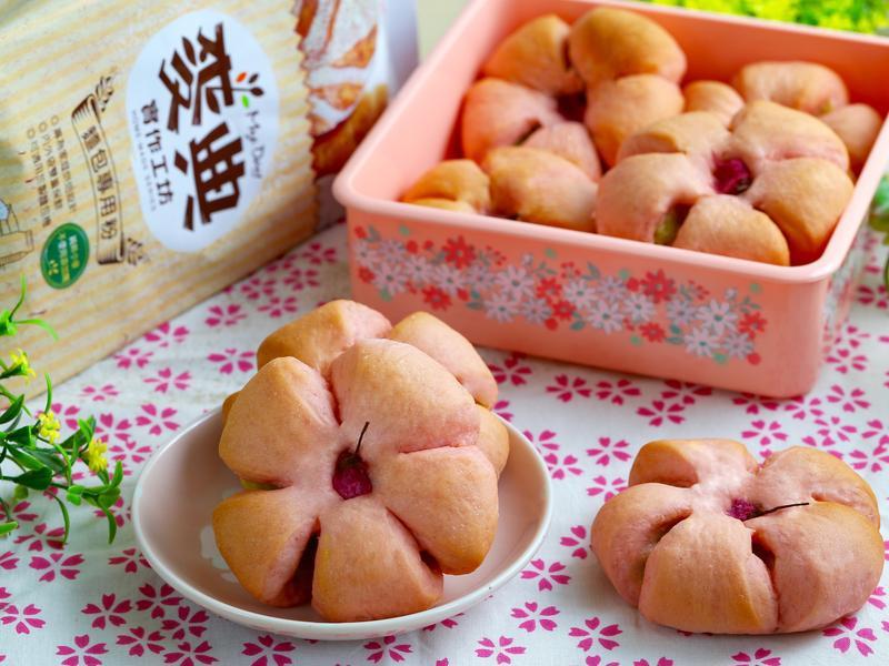 春日限定櫻花麵包【麥典麵包專用粉】