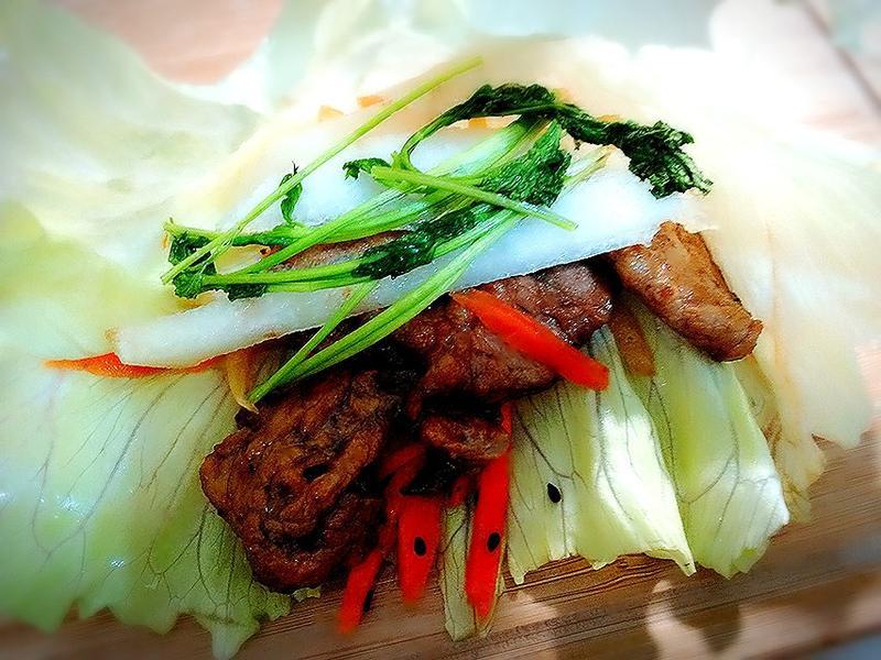 韓式烤肉蔬菜捲