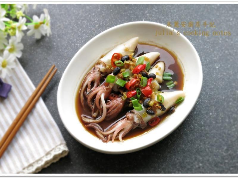 [豆豉辣椒小卷]電鍋版 簡易家常菜