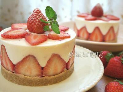 【免烤箱】特濃草莓生乳酪蛋糕