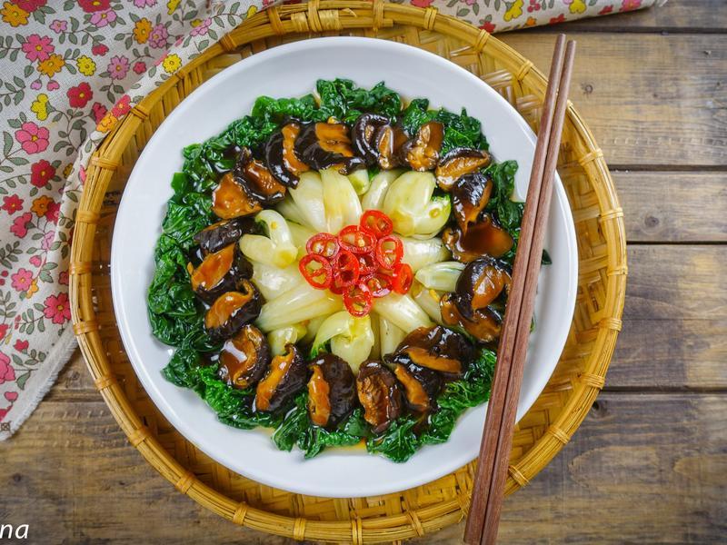 香菇燴奶油白菜@Selina Wu