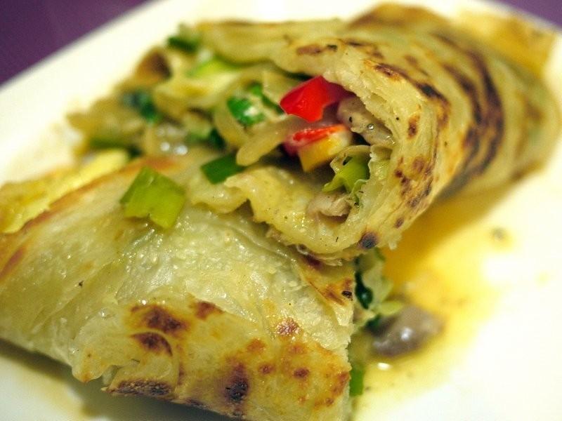 ♫下廚--蔬食蔥酥餅佐雞肉
