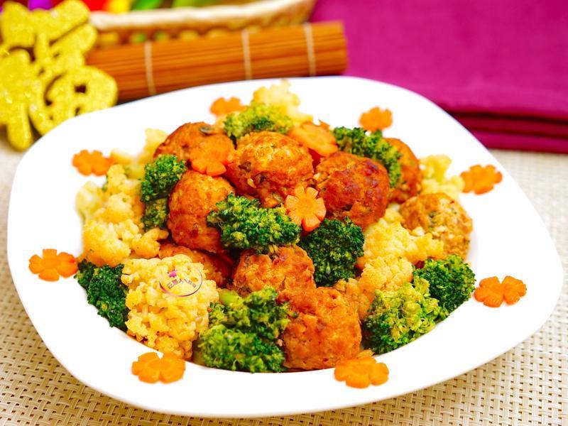 泡菜丸子燴雙花