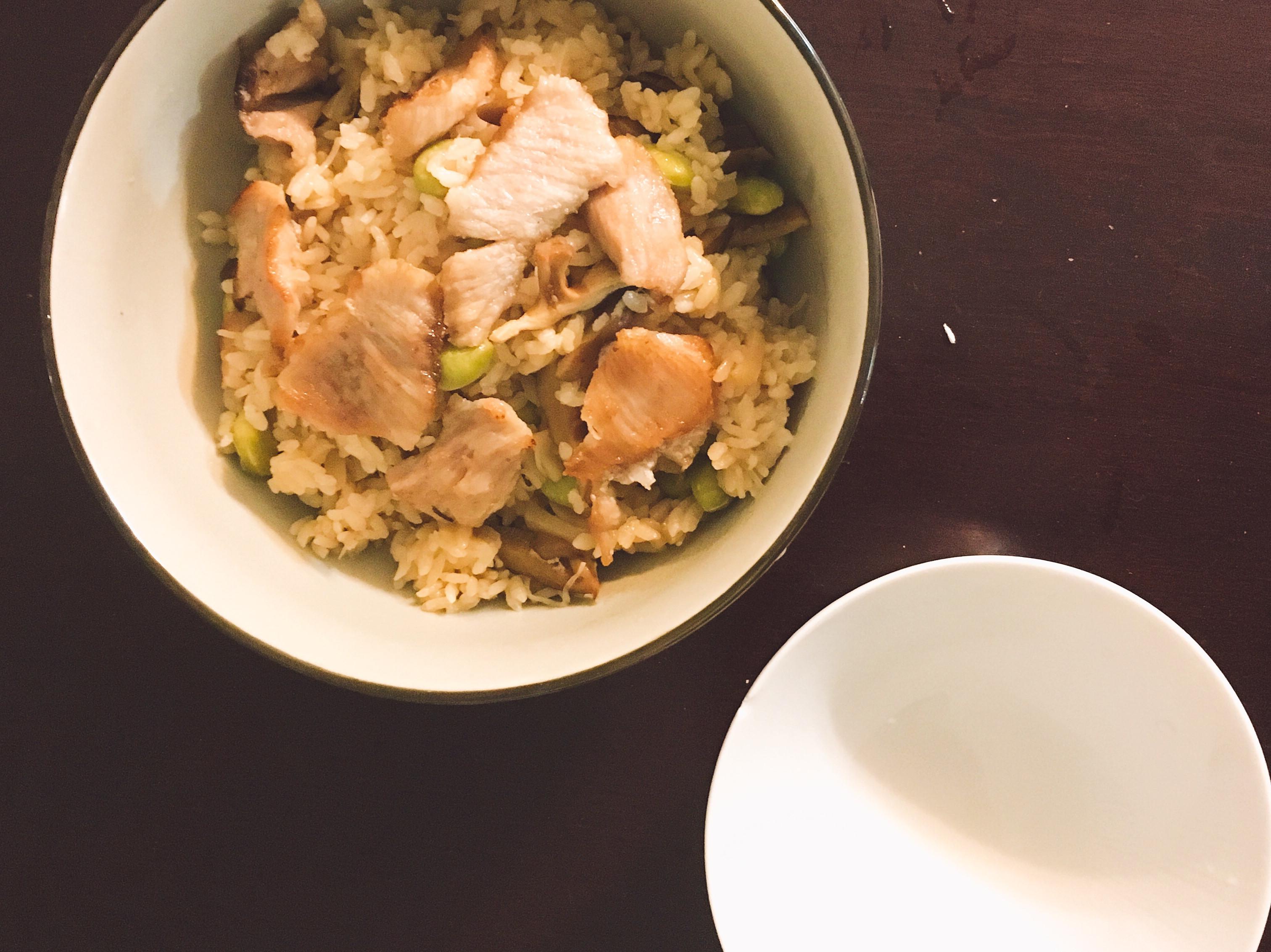 [史雲生清雞湯]干貝炊飯佐香菇豬肉片