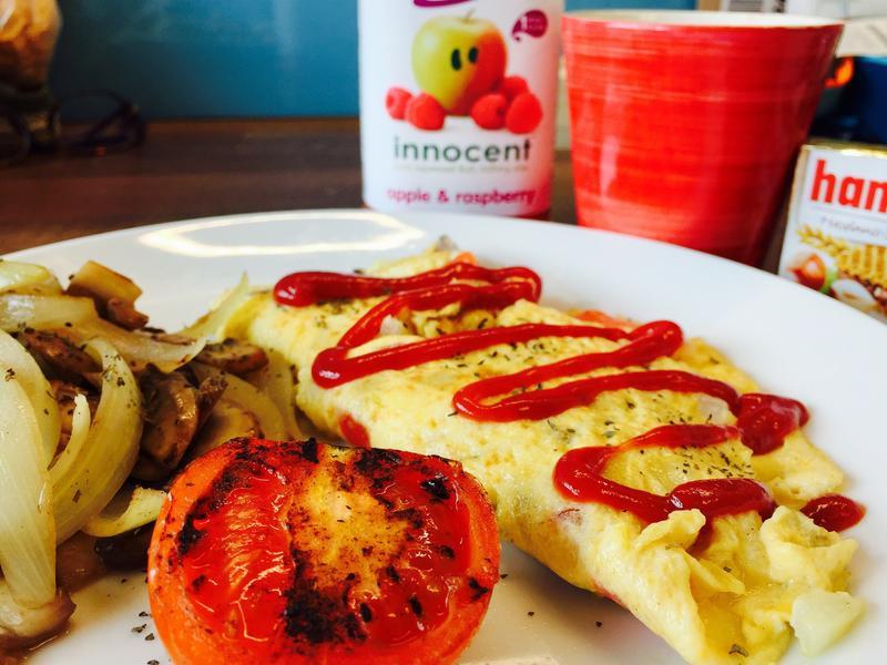 美味早午餐👉🏼奶油蘑菇起司歐姆蛋🍳