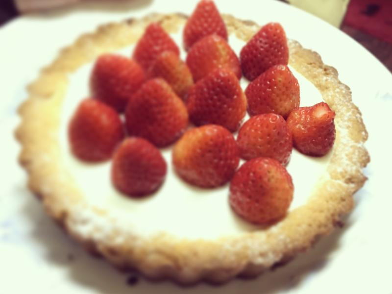超簡單草莓塔(棉花糖餡)