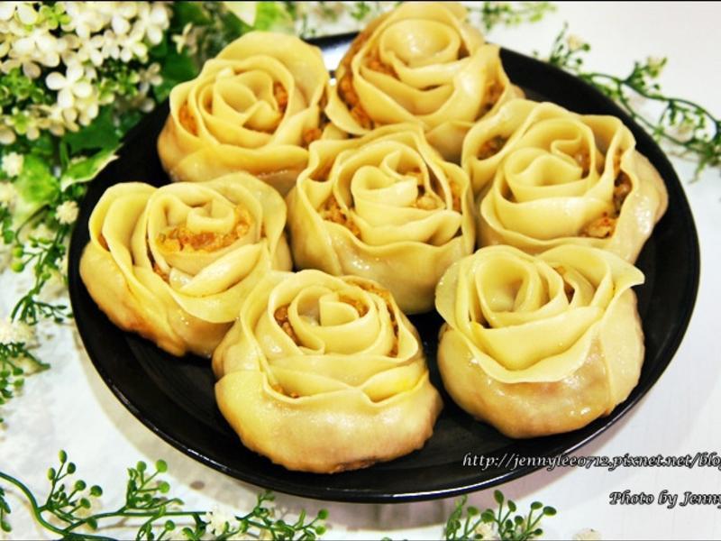 泡菜玫瑰花餃
