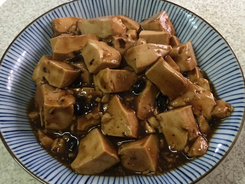 (不加一滴油)豆鼓燴豆腐~全素
