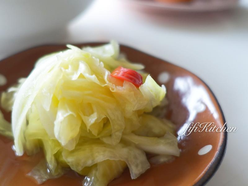 原來如此簡單做的『台式泡菜』。