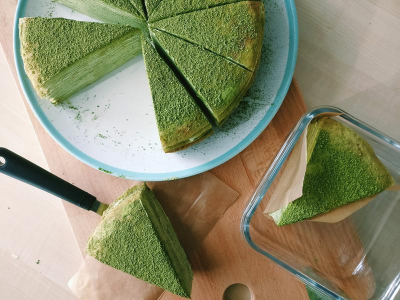 有機抹茶◆抹茶千層蛋糕