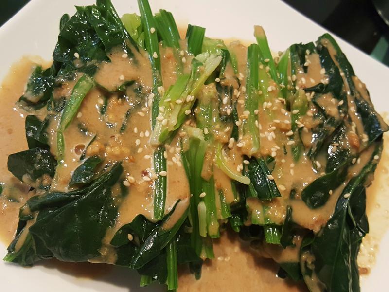 健康哩賀胡蔴醬菠菜