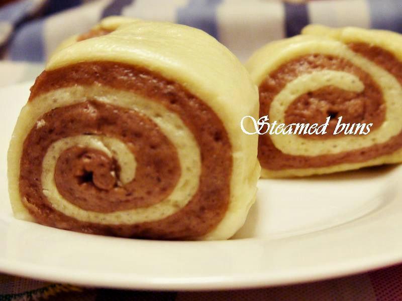 雙色饅頭(巧克力&鮮奶)
