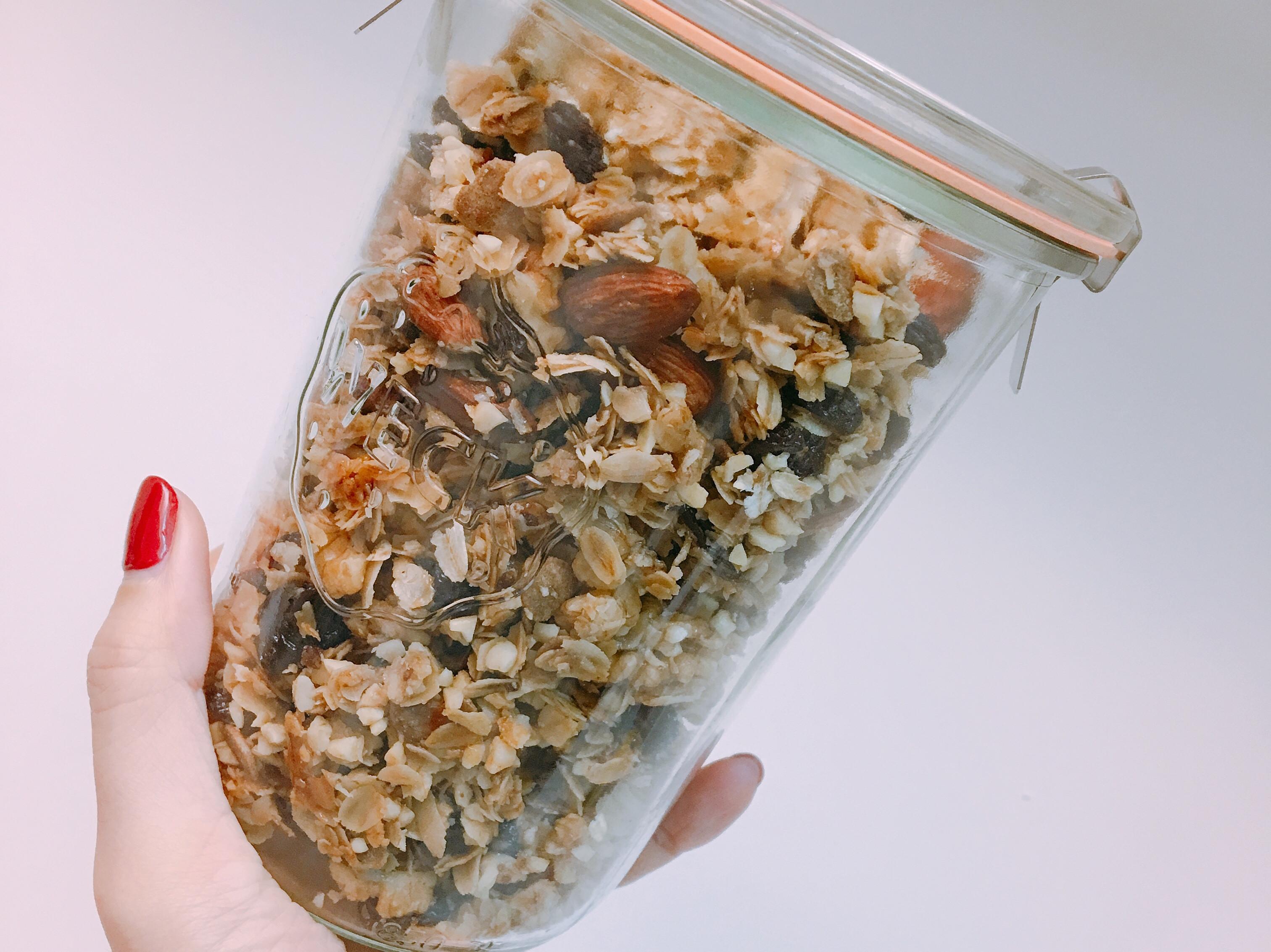 [常備菜]營養滿分的烤燕麥granola