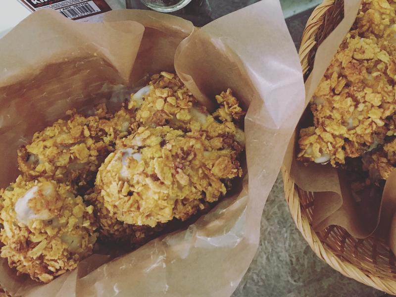 [烤箱料理]免油炸的香料偽炸雞